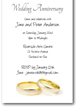 Wedding Rings Anniversary Invitation