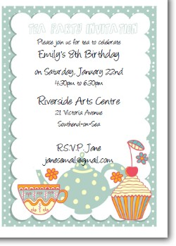Kids Tea Party Invite