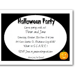 Personalized wear to scare invitation