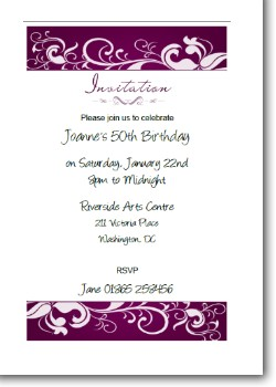 Personallized Birthday Party Invitation