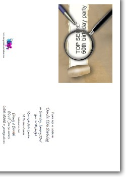 Customized Secret 50th Birthday Invitation - Surprise Party