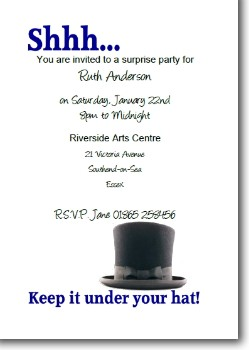Keep it Under Your Hat Invitation