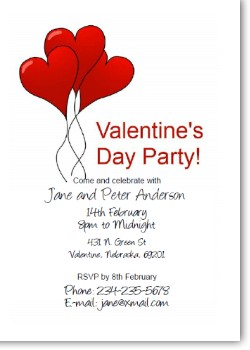 Custom valentine hearts invite