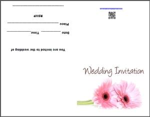 Free daisy wedding invitations