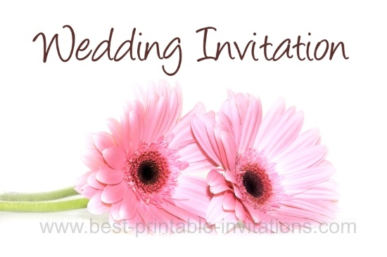 Daisy Wedding Invitations - free printable invites