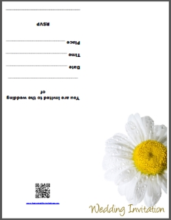 Daisy Flower Wedding Invite