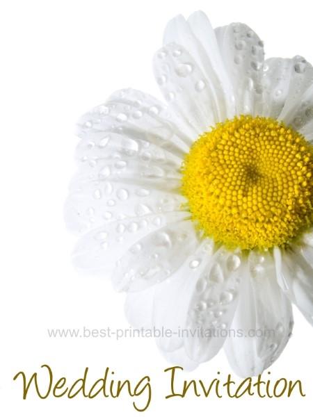 Free Printable Daisy Wedding Invitation