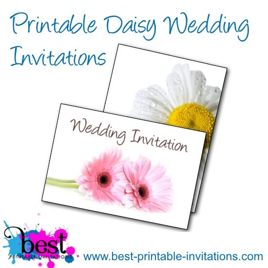 Free Printable Daisy Wedding Invitations