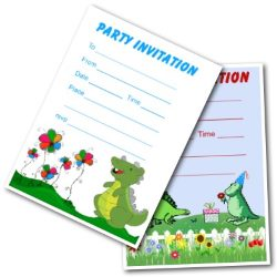 Dinosaur Themed Party Invites