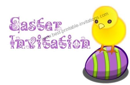 Printable Easter Invitations - free party invites