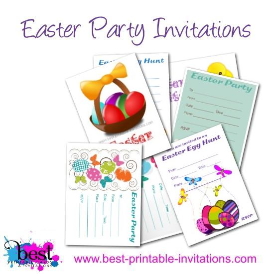 Easter Invitations - Free Printable Party Invites