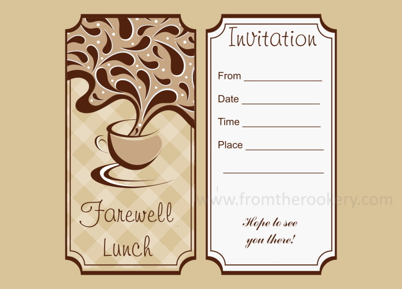 Lunch Invitation Template Fabulous Breakfast And Brunch Wedding
