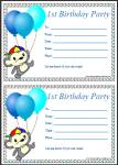 Free printable first birthday party invitations thumbnail