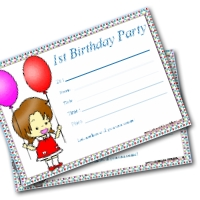 Printable First Birthday Party Invitations