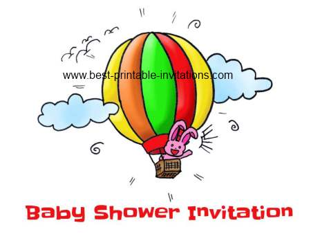 Free Baby Shower Invitations - Rabbit Design Printable Invites