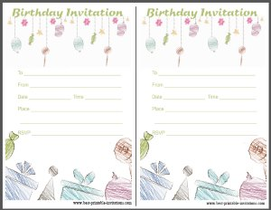 Birthday Party Invitation - Free Printable