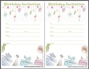 Birthday Party Invitation - Free Printable