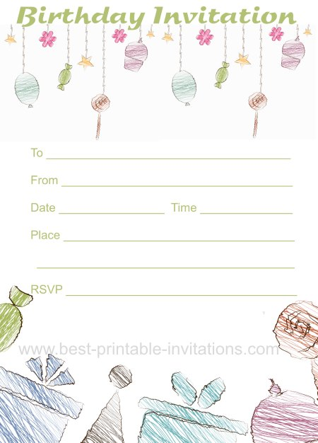 Free Birthday Invitation - Printable Party Invites