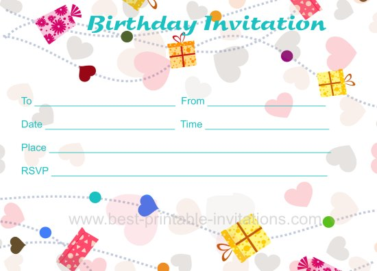 Free Birthday Invitation