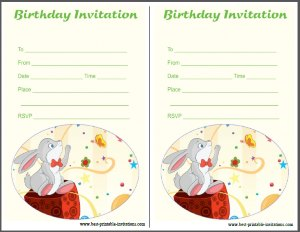 Free Birthday Party Invites