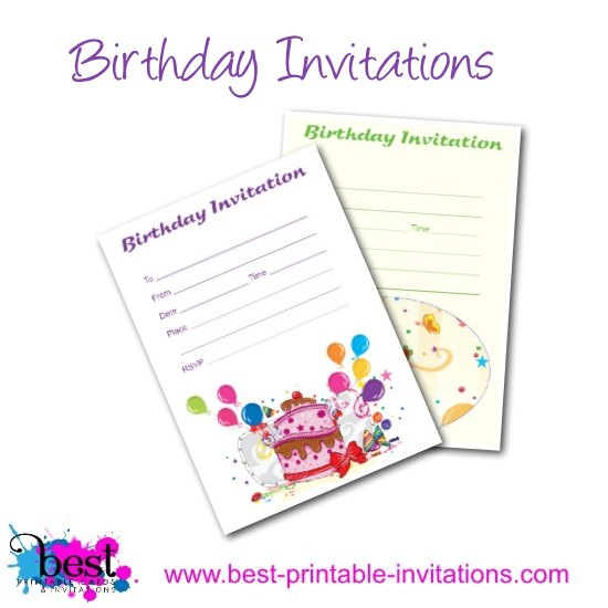 Free Birthday Party Invitations - Printable