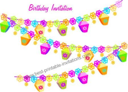 Free Birthday Party Invitations Printable Invites – Printable Free Birthday Party Invitations