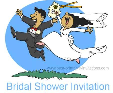 Free Bridal Shower Invitation - happy couple