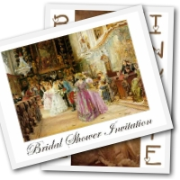 Free bridal shower invitations - vintage designs