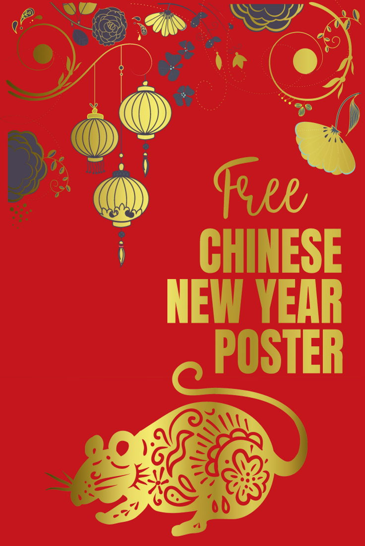 Chinese New Year Poster - 2020 Year of the Rat design