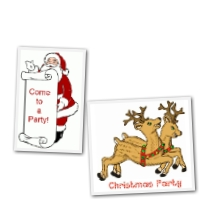 Free  Christmas Party invitations - Santa and reindeer designs
