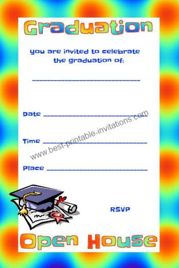 Free Graduation invitations - Open House Party Invite Templates