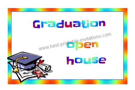 Free graduation party invitations - Printable Invite Cards