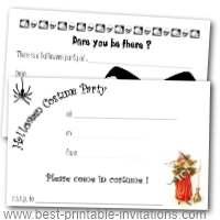 Free halloween costume party invitations