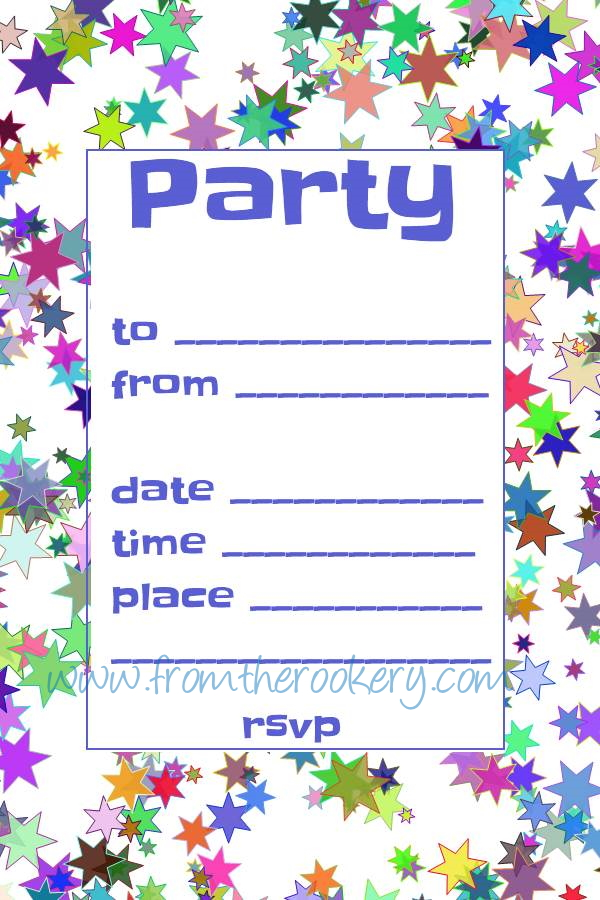 Free Party Invitations - Printable Invitation Templates