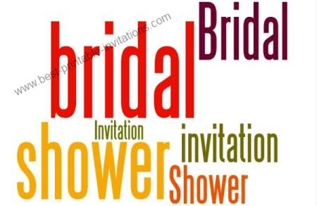 Free Printable Bridal Invitations - bright wording invitation cards
