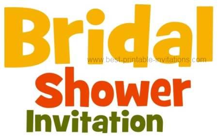 Free Printable Bridal Invitations - unique worded invitations