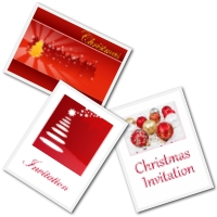 Free Printable Chrismtmas Party invitations - red and white design
