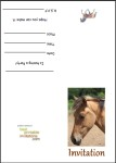 Free printable horse invitations thumbnail