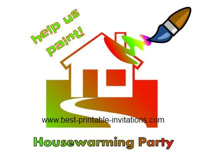 Free Printable Housewarming Invitations - Help us paint party invites