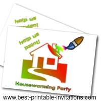 Free Printable Housewarming invitations