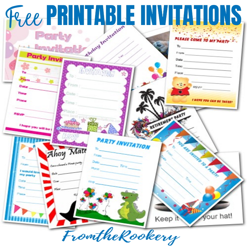 Free Printable Invitations - Party Invites
