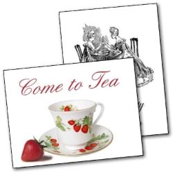photograph relating to Free Printable Tea Party Invitations referred to as Printable Tea Celebration Invites
