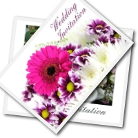 Free Printable wedding invitations - flower and rose bouquet designs