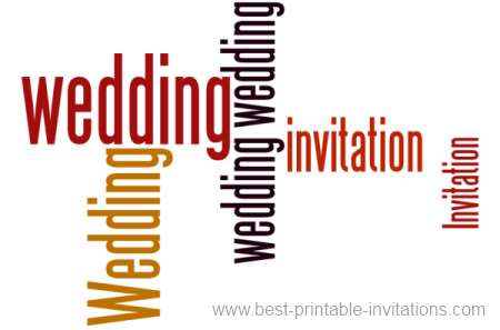 Free Wedding Invitations to print - bold wording