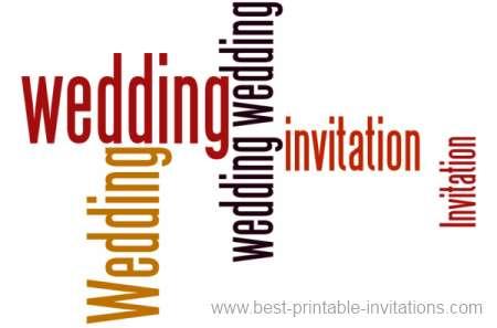 Free Wedding Invitations to print - bold wording
