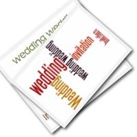 Free wedding invitations to print - bold word designs