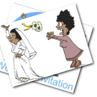 Funny Wedding Invitations - free printable invite cards
