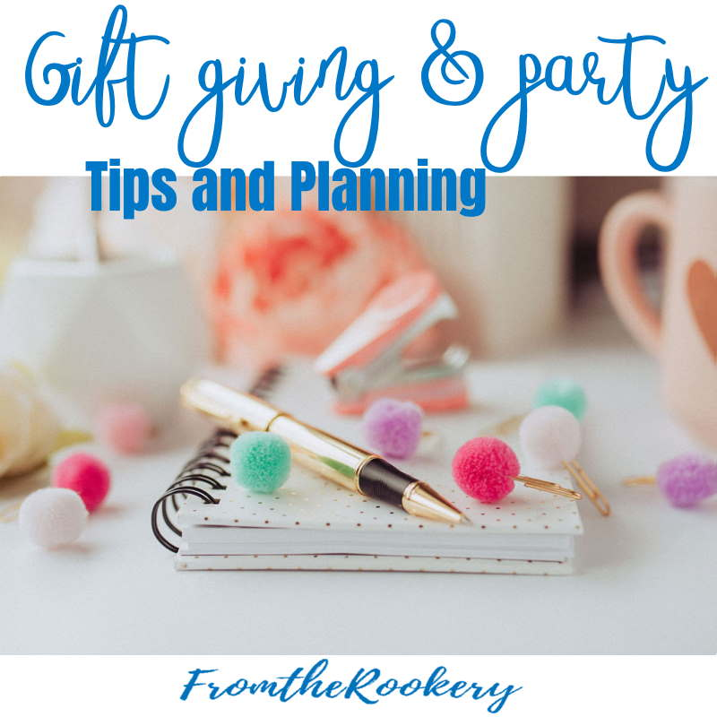 gift giving and party tips and planning ideas