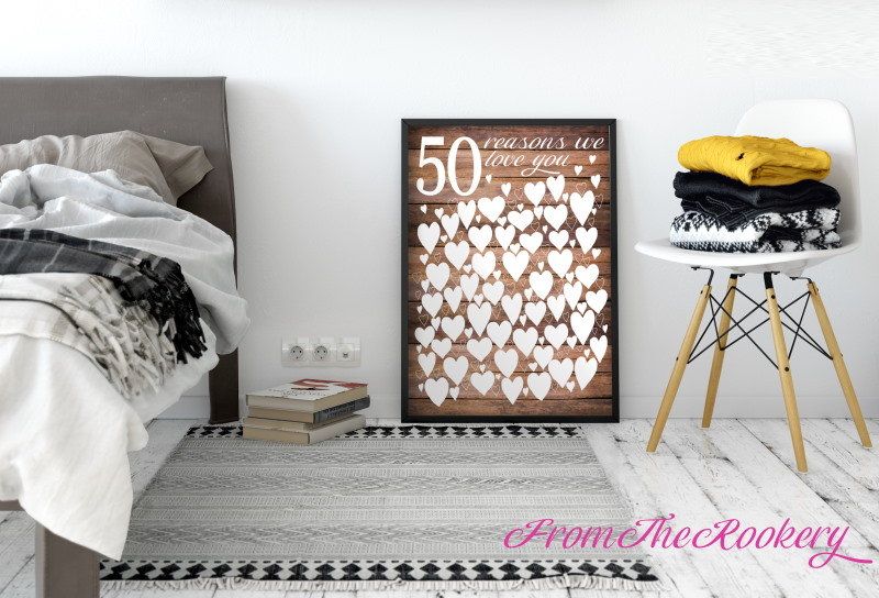 Rustic Guest Book Poster