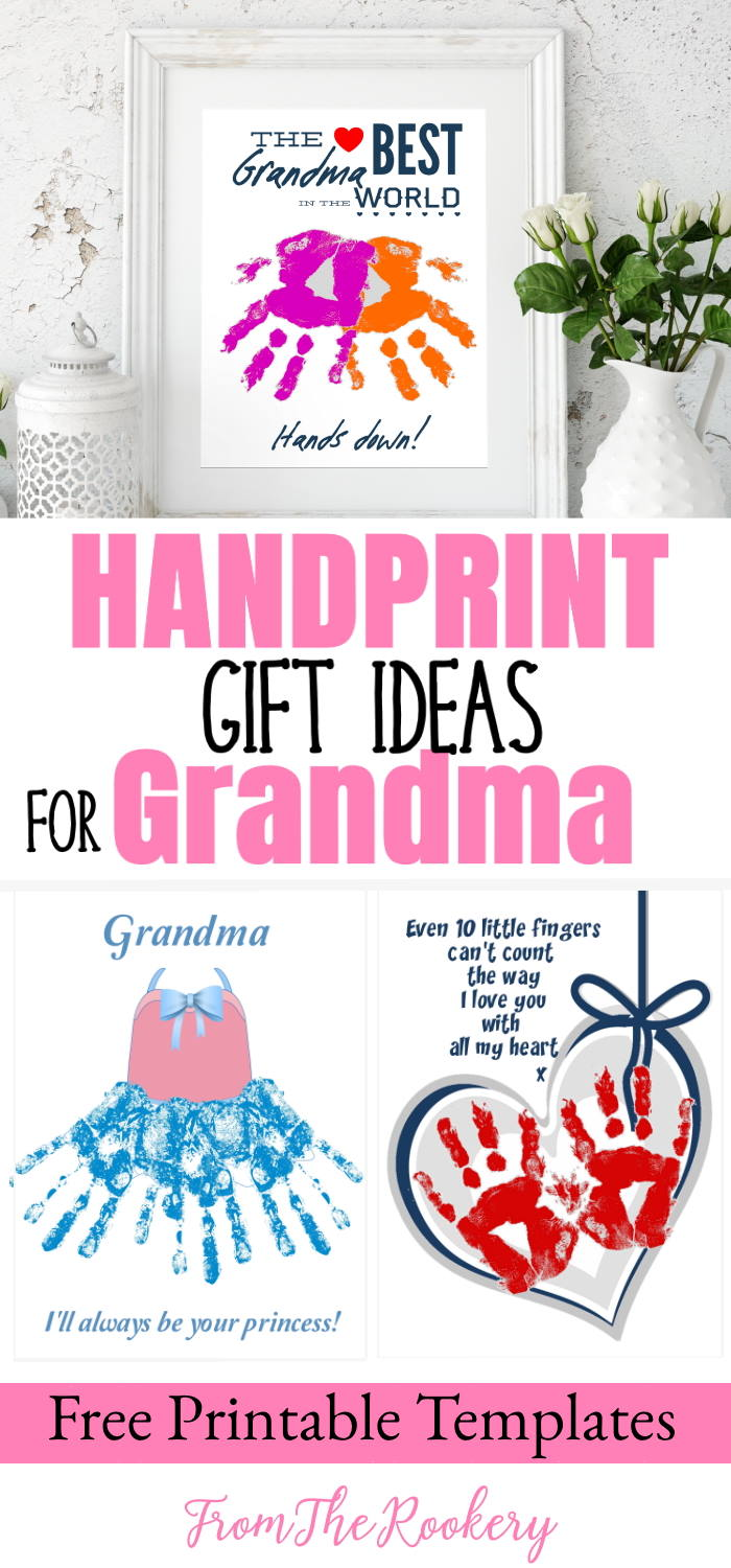 Handprint Art Gift Ideas For Grandma